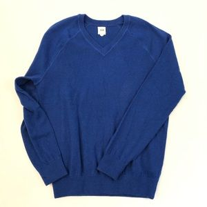 Gap Blue Wool and Cashmere V-Neck Sweater